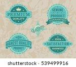 vintage labels set | Shutterstock .eps vector #539499916