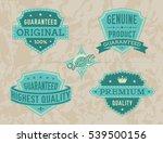 vintage labels set | Shutterstock .eps vector #539500156