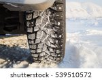 winter studded tire on the snow ...   Shutterstock . vector #539510572