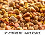 Stock photo dry dog food in bulk close up 539519395