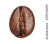 coffee bean isolated on white... | Shutterstock . vector #539519695