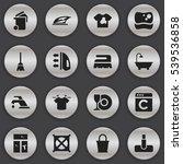 set of 16 editable hygiene...   Shutterstock .eps vector #539536858