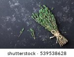 Food Background Of Herb Thyme...