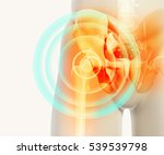 3d illustration  hip painful... | Shutterstock . vector #539539798