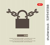 chain on the lock  icon | Shutterstock .eps vector #539545588