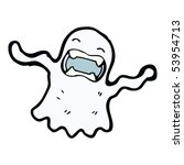 ghost cartoon | Shutterstock .eps vector #53954713