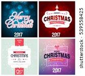 christmas background design | Shutterstock .eps vector #539558425