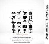 travel icons vector  flat... | Shutterstock .eps vector #539559202