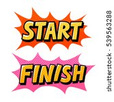 start  finish pop art comics... | Shutterstock .eps vector #539563288