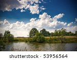 summer landscape in Tambov, Russia - stock photo