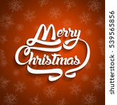 christmas greeting card text.... | Shutterstock . vector #539565856