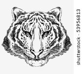 Hand Drawn Tiger Portrait...