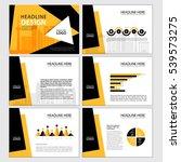 multipurpose template for... | Shutterstock .eps vector #539573275