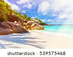 tropical island. the seychelles.... | Shutterstock . vector #539575468