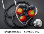 healthy eating and heart health ... | Shutterstock . vector #539580442