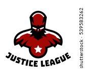 logo superhero. superman... | Shutterstock .eps vector #539583262