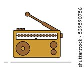 radio icon filled vector | Shutterstock .eps vector #539590756