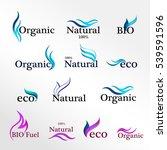 set  eco logos  design template ...   Shutterstock . vector #539591596