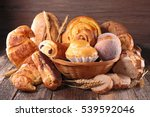 assorted bread and pastry   Shutterstock . vector #539592046
