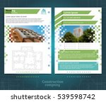 two sided brochure or flayer... | Shutterstock .eps vector #539598742