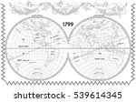 Vector Old Globe  Map Of World...