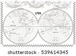 vector old globe  map of world... | Shutterstock .eps vector #539614345