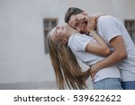 couple walking on the streets... | Shutterstock . vector #539622622