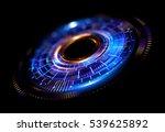 orb neon rays. luminous hole.... | Shutterstock . vector #539625892