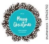 pine cones fir tree vector...   Shutterstock .eps vector #539626702