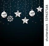illustration christmas dark... | Shutterstock .eps vector #539637166