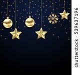 illustration christmas dark... | Shutterstock .eps vector #539637196