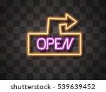 open neon sign  | Shutterstock .eps vector #539639452
