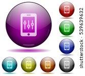 smartphone tweaking color glass ... | Shutterstock .eps vector #539639632