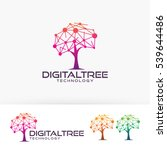 digital tree  technology ... | Shutterstock .eps vector #539644486