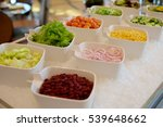 vegetable ingredients on a... | Shutterstock . vector #539648662