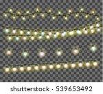 realistic christmas lights...   Shutterstock .eps vector #539653492