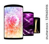 set of realistic smartphones... | Shutterstock . vector #539660446