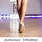 woman wearing gold elegant high ... | Shutterstock . vector #539668462