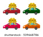 four colored cars with yellow...   Shutterstock .eps vector #539668786