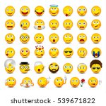 emoticons set isolated on white ... | Shutterstock .eps vector #539671822