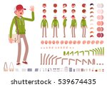 young man wearing hoodie... | Shutterstock .eps vector #539674435