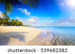 summer tropical beach  peaceful ... | Shutterstock . vector #539682382