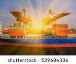 container container ship in... | Shutterstock . vector #539686336