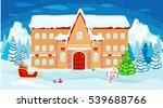 vector christmas illustration ... | Shutterstock .eps vector #539688766