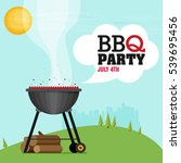 invitation card for a barbecue | Shutterstock .eps vector #539695456