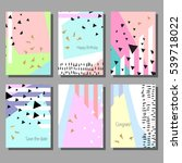 set of colorful cards. modern... | Shutterstock .eps vector #539718022