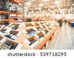 blurred image aisle of bottles... | Shutterstock . vector #539718295