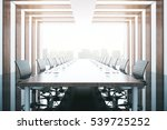 side view of wooden table and... | Shutterstock . vector #539725252