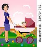 vector illustration. mother... | Shutterstock .eps vector #539734792