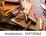 leather craft or leather... | Shutterstock . vector #539735062